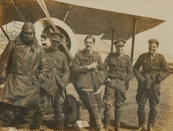 Airmen of 54 Squadron, Royal Flying Corps, 1917 (b/w photo)