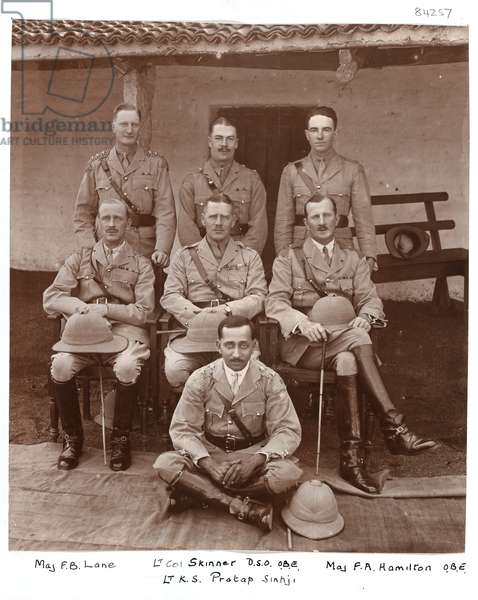 A group of Indian Army officers, 1922 (b/w photo)