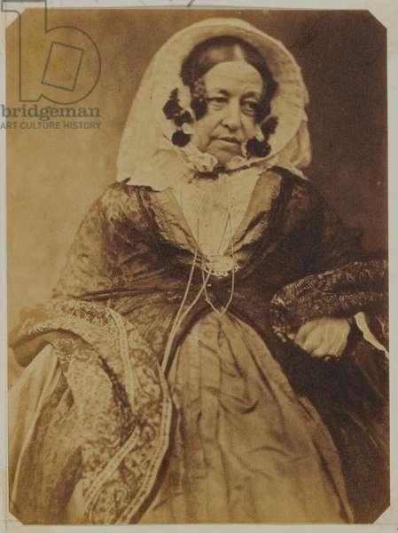 Mrs Marianne Coffin, 1848 circa (b/w photo)