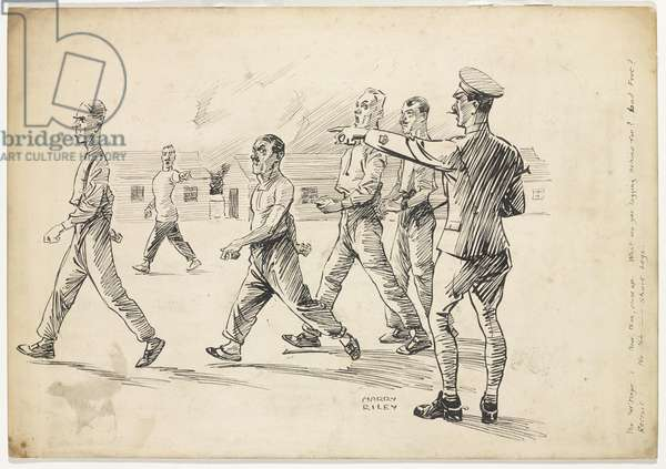 What are you lagging behind for?, c.1945 (pen & ink on paper)
