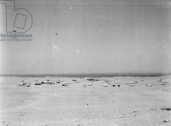 View towards the Nile Delta from Cowley Camp, Cairo, Egypt, 1943 (b/w photo)
