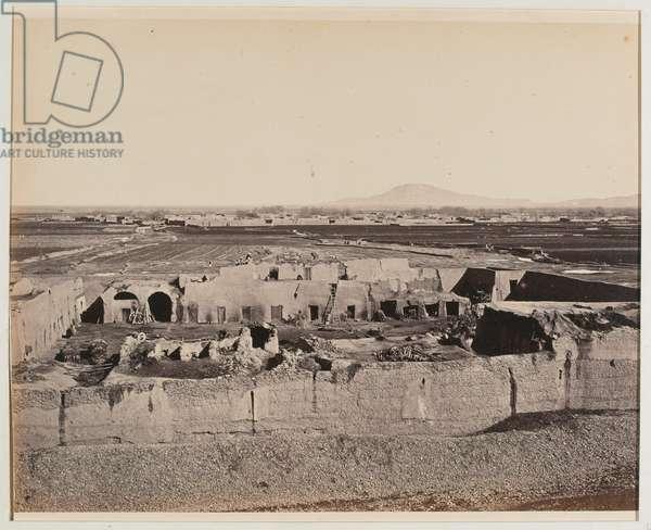 'Deh Khoja, from above the Durrani gate', 1880 circa (b/w photo)