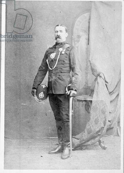 Major John Cook VC, 5th Gurkha Rifles, 1879 (b/w photo)