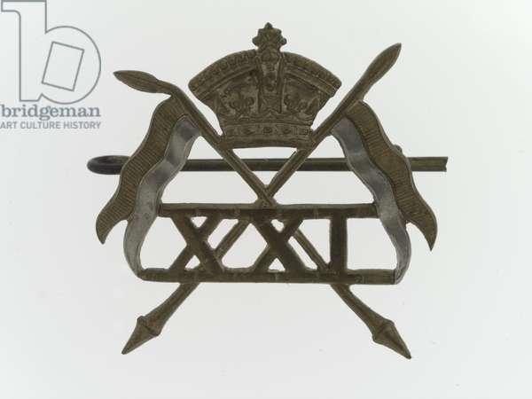 Cap badge, 1900 (metal)