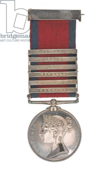 Military General Service Medal 1793-1814, Lieutenant Daniel Forbes, 95th Rifles (metal)