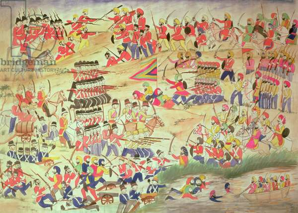 An Incident during the Sikh Wars, (w/c on paper)