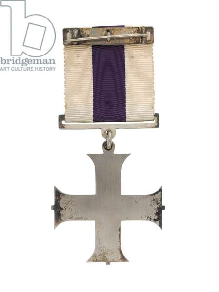 Military Cross awarded to Major Oliver 'Stewpot' Stewart, Royal Flying Corps, 1917 (metal)
