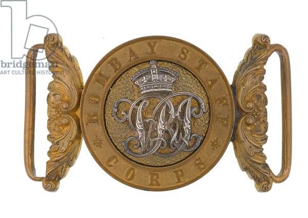 Waistbelt clasp, Bombay Staff Corps, 1876-1891 (waistbelt clasp)