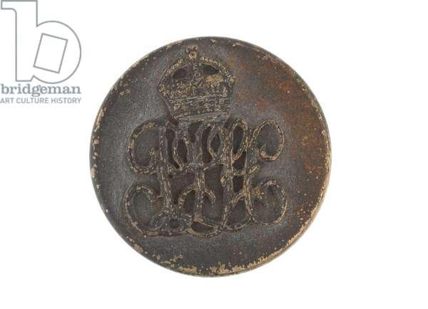 Button, Punjab Light Horse, 1893-1947 (brass)