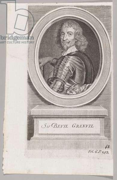 'Sir Bevil Granvil', 1643 (c). (line engraving)