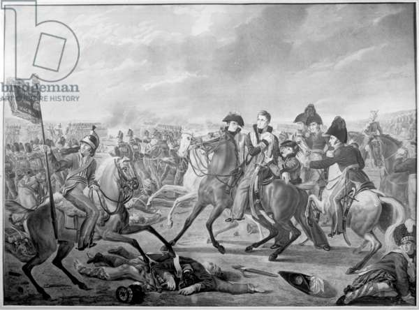 HRH William Prince of Orange wounded at the moment of victory in the memorable battle of Waterloo, 1815, published 1816 (engraving)