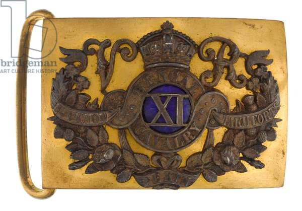 Waistbelt clasp, 11th Regiment of Bengal Cavalry (Lancers), 1864-1876 (silveron and gilt)