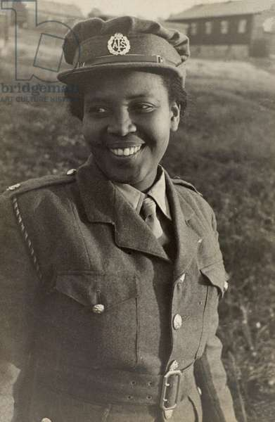 A West Indian member of the Auxiliary Territorial Service (ATS), 1943-47 (b/w photo)