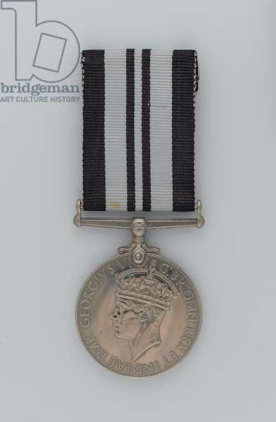 India Service Medal 1939-45, specimen (metal)