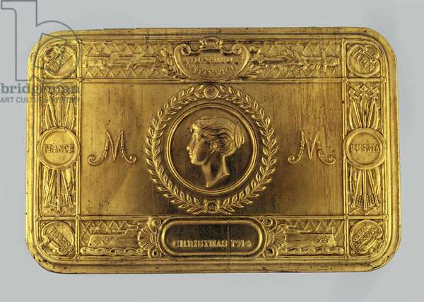 Princess Mary gift tin, with sweets, for non-smokers, 1914 (metal)