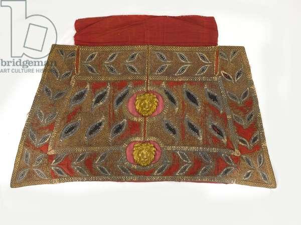 Elephant howdah cloth, 1790 circa (fabric)