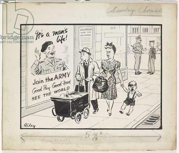 Now, Bert! Forget It!, c.1945 (pen & ink with crayon)