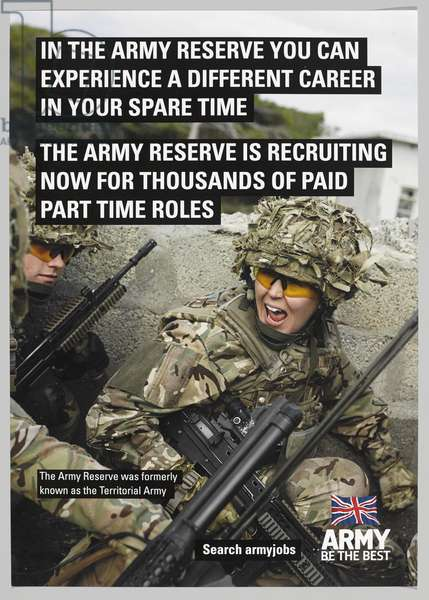 Army Reserve recruiting poster, 2014 (colour litho)