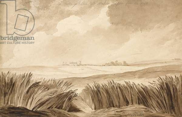 'No 4 La Belle Alliance and NeuvCour...', 1815 (w/c & pencil on paper)