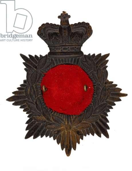 Helmet badge, 2nd Punjab (Simla) Volunteer Rifle Corps 1881-1901 (metal)