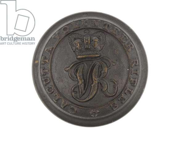 Button, Calcutta Volunteer Rifles, pre-1901 (metal)