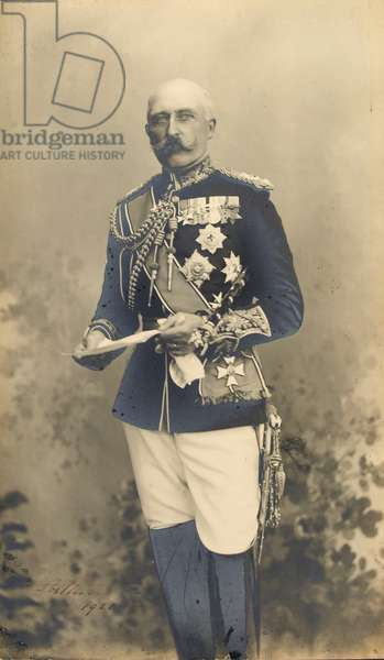 Arthur, Duke of Connaught, Field Marshal and Colonel-in-Chief, Royal Dublin Fusiliers, 1910 circa (b/w photo)