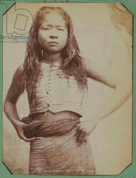 Burmese girl, 1852 circa (b/w photo)