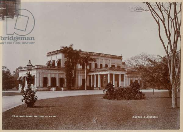 Hastings House, Calcutta, 1880 circa (b/w photo)