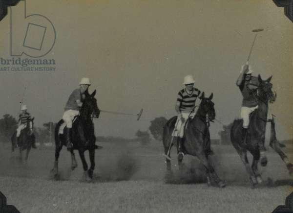 Polo match, 1940 circa (b/w photo)
