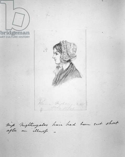 Florence Nightingale, c.1855 (pencil on paper)