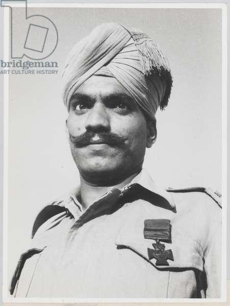 Sepoy Bhandari Ram VC, 6th Battalion 10th Baluch Regiment, 1945 (b/w photo)