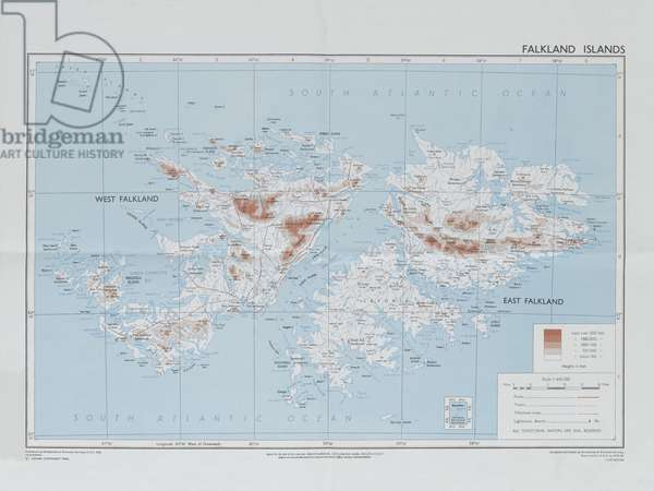 Directorate of Overseas Surveys map of the Falklands Islands, c.1983 (colour litho)