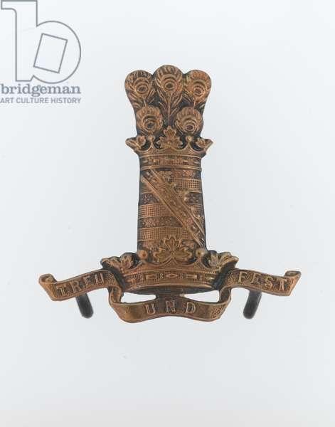Cap badge, c.1900 (brass)