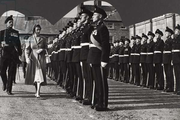 State Visit to Northern Ireland of Her Majesty Queen Elizabeth II and His Royal Highness The Duke of Edinburgh 29th June - 4th July 1953 (b/w photo)