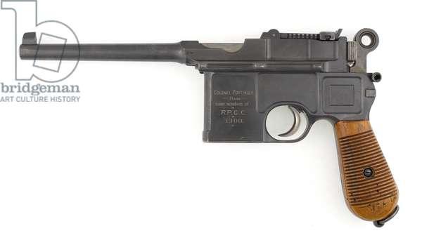 Mauser Model 1896 7.63 mm self-loading pistol, 1900 (pistol, self-loading, Mauser, 7.63 mm C96)