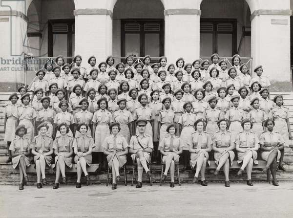 Members of the West Indies Auxiliary Territorial Service, c.1943 (b/w photo)