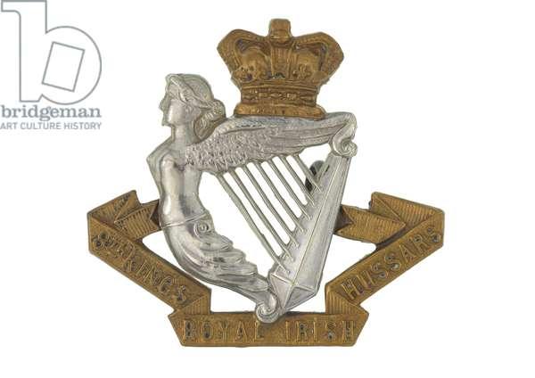 Cap badge, c.1900 (white metal and brass)