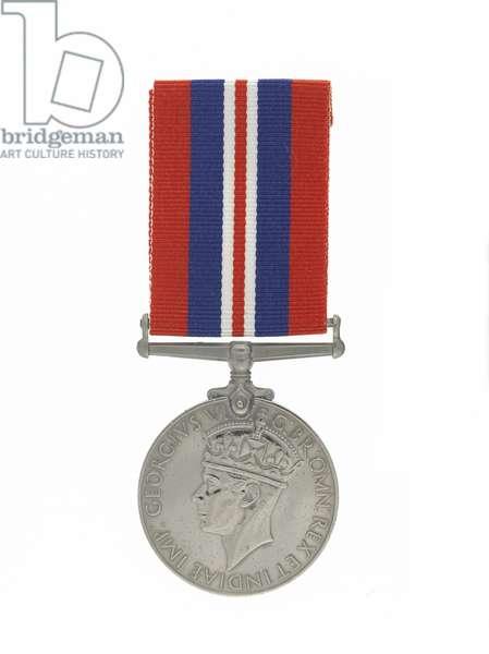 British War Medal 1939-45 (cupro-nickel & silk)