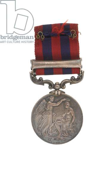 India General Service Medal 1854-95, Captain John Grant Malcolmson VC, 3rd Regiment of Bombay Light Cavalry (metal)