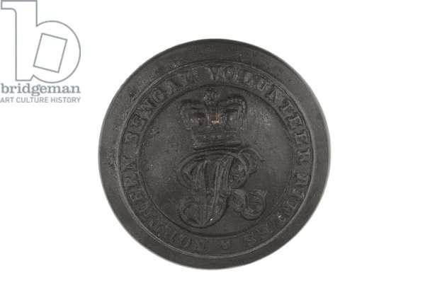 Button, Northern Bengal Mounted Rifles, 1873-1889 (brass)