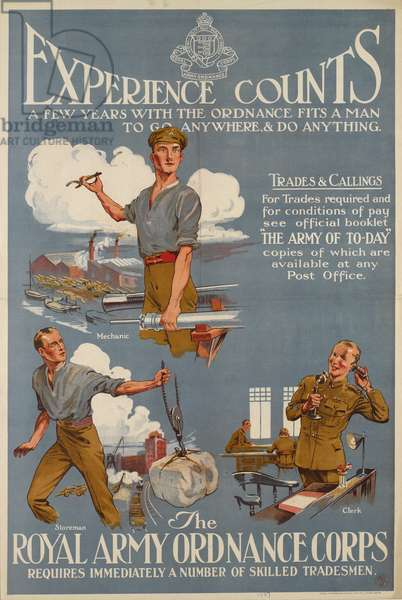 Experience Counts!, 1927 (colour litho)
