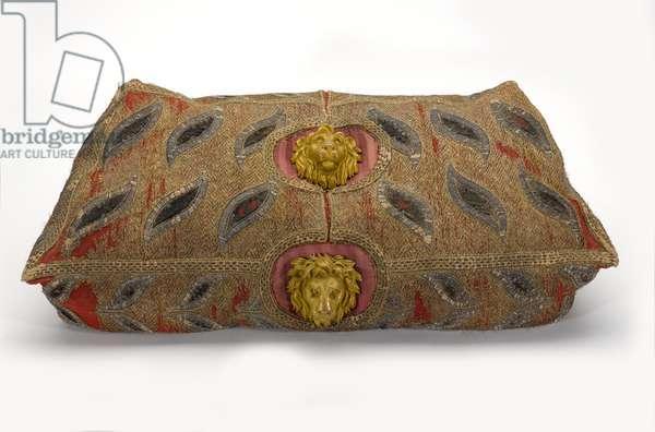 Cushion for an elephant howdah, 1790 circa (fabric)