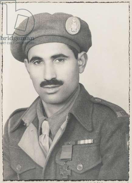 Sepoy Ali Haidar VC, 13th Frontier Force Rifles, 13 August 1945 (b/w photo)
