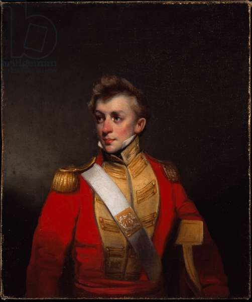 An unidentified officer of the 13th Bombay Native Infantry, 1824 circa (oil on canvas)