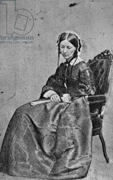 Florence Nightingale (1820-1910) (b/w photo)