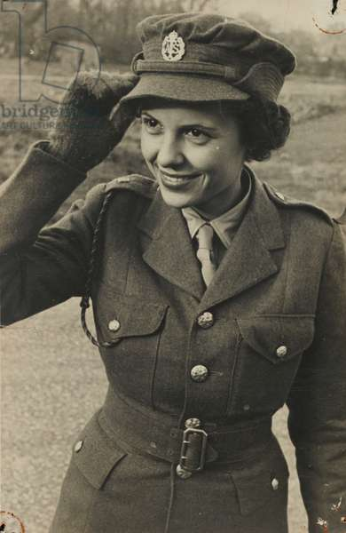 A Member of the West Indies Auxiliary Territorial Service, c.1943 (b/w photo)