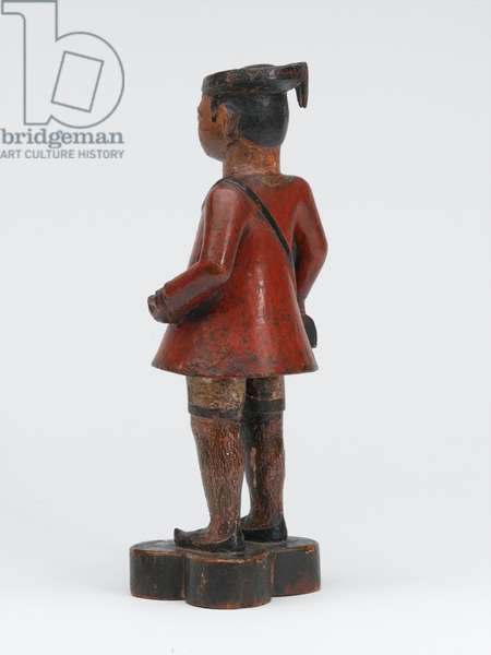 Carved wooden Company school figure of a sepoy of the Madras Army, 1785 circa (wood)