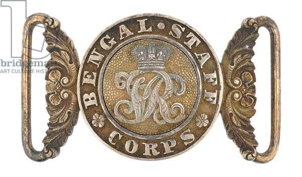 Waistbelt clasp, Bengal Staff Corps, 1870-1876 (waistbelt clasp)