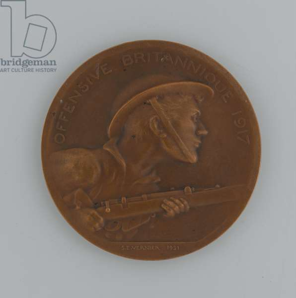 French bronze medal commemorating the British offensive of 1917, 1921 (metal)