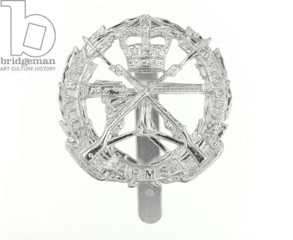 Cap badge, c.1965 (anodised aluminium)
